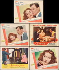 "Portrait of Jennie & Other Lot (Selznick, 1949). Fine/Very Fine. Lobby Cards (5) (11"" X 14""). Romance..."