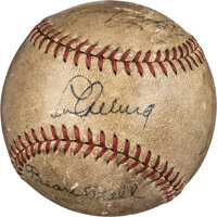 Late 1930's New York Yankees Partial Team Signed Baseball with Gehrig & DiMaggio