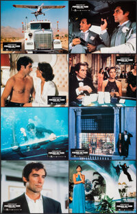 """Licence to Kill (UIP, 1989). Very Fine/Near Mint. French Lobby Card Set of 8 & French Lobby Card Set of 16 (8.5""""..."""