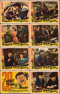 """20 Mule Team (MGM, 1940). Overall: Very Fine-. Lobby Card Set of 8 & Lobby Cards (6) (11"""" X 14""""). Western..."""