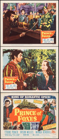 """Movie Posters:Adventure, Prince of Foxes (20th Century Fox, 1949). Very Fine. Title Lobby Card & Lobby Cards (2) (11"""" X 14""""). Adventure.. ... (Total: 3 Items)"""