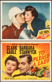 """To Please a Lady (MGM, 1950). Very Fine. Title Lobby Card & Lobby Card (11"""" X 14""""). Adventure. ... (Total:..."""