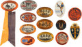 Football Collectibles:Others, 1919-56 University of Illinois Homecoming Pinback Buttons Lot of 13 - With Red Grange! ...