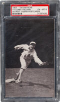 Baseball Cards:Singles (Pre-1930), 1907-09 Dietsche Ty Cobb (Fielding) PSA EX-MT 6 - The Highest Graded Example! ...