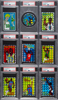 Basketball Cards:Lots, 1985 Prism/Jewel Basketball PSA Graded Collection (9)....