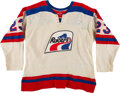 Hockey Collectibles:Uniforms, 1970's Game Worn Indianapolis Racers (WHA) Jersey....