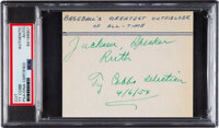 1954 Ty Cobb Signed Cut with Incredible Inscription, PSA/DNA Authentic