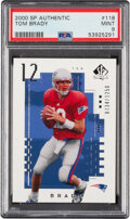 Football Cards:Sets, 2000 SP Authentic Football Complete Set (171) With Tom Brady PSA Mint 9 Rookie Card!...