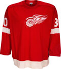 Hockey Collectibles:Uniforms, Late 1960's to Early 1970's Game Worn Detroit Red Wings Jersey from The Bill Fundaro Collection....