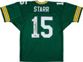 Football Collectibles:Uniforms, 1990's Bart Starr Signed Green Bay Packers Jersey from The Bill Fundaro Collection....