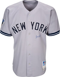 1998 Bernie Williams World Series Worn & Signed New York Yankees Jersey & Pants with Steiner Sports COA