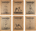 """Baseball Collectibles:Publications, 1916 """"Sporting Life"""" Near Complete Year...."""