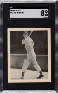 1939 Play Ball Ted Williams #92 SGC NM/MT 8