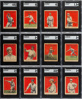 Baseball Cards:Lots, 1914 Cracker Jack SGC-Graded Collection (19) with Carey, Wood & Zeider....