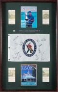 Golf Collectibles:Autographs, 1999 Payne Stewart Signed U.S. Open Display....