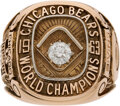 Football Collectibles:Others, 1963 Chicago Bears NFL Championship Ring Presented to Halfback Charlie Bivins....