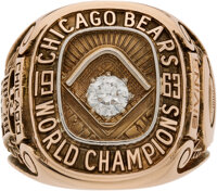 1963 Chicago Bears NFL Championship Ring Presented to Halfback Charlie Bivins