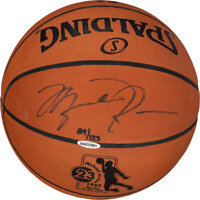 1985 Michael Jordan Rookie of the Year Signed Limited Edition 89/123 UDA Basketball