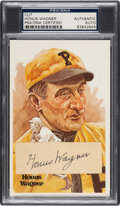 Autographs:Sports Cards, Signed Honus Wagner Cut PSA/DNA Authentic - on Perez Steele Post Card. ...