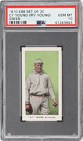 """Baseball Cards:Singles (Pre-1930), 1910 E98 """"Set of 30"""" Cy Young (Irv Young-Green) PSA Gem Mint 10--Population One!..."""