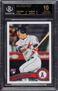 Baseball Cards:Singles (1970-Now), 2011 Topps Update Mike Trout Rookie #US175 BGS Black Label Pristine 10....