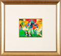 Football Collectibles:Others, Circa 1980 Football Game Original Painting by LeRoy Neiman....