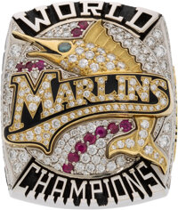 2003 Florida Marlins World Series Championship Ring Presented to Scout Orrin Freeman