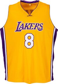 Late 1990's Kobe Bryant Signed Los Angeles Lakers Jersey
