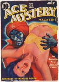 Pulps:Adventure, Ace Mystery - July 1936 (Ace) Condition: GD/VG....