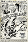 Original Comic Art:Splash Pages, Tom Sutton and Chic Stone - Marvel Spotlight #9, Splash PageOriginal Art (Marvel, 1973). Ghost Rider (in only his fifth-eve...