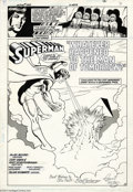 Original Comic Art:Splash Pages, Curt Swan and Kurt Schaffenberger - Action Comics #583, page 2Original Art (DC, 1986). The title splash page from the secon...