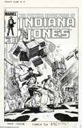 Original Comic Art:Covers, Herb Trimpe - The Further Adventures of Indiana Jones #15 CoverOriginal Cover (Marvel, 1984). Someone is trying to lower th...