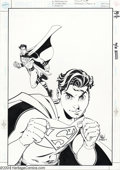 Original Comic Art:Covers, Mike Wieringo and Terry Austin - Sins of Youth: Superman,Jr./Superboy, Sr. #1 Cover Original Art (DC, 2000). TerryAustin's...