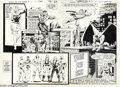 Original Comic Art:Splash Pages, Stan Woch - World's Finest Ad Artwork, 2-Page Spread Original Art(DC, 1983). This nifty two-page spread by Stan Woch has Li...