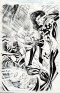 Original Comic Art:Splash Pages, Ashley Wood and Temlijin - Dream Team #1 Original Pin Up Art(Marvel, 1995). Dream Team was a one-shot published by Marv...