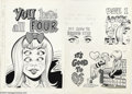 Original Comic Art:Sketches, Wally Wood - Topps Nasty Notes #6 Original Art (Topps, 1967). Back in '67, Topps made it real easy for you to let somebody k...