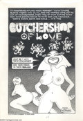 "Original Comic Art:Splash Pages, Skip Williamson - ""Butchershop of Love"" Original Art Splash Page(undated). Woo hoo! Don't mess with these gals! They mean b..."