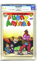 Bronze Age (1970-1979):Alternative/Underground, Funny Aminals #1 (Apex Novelties, 1972) CGC MT 9.9 Off-white to white pages. Here's the inside story: art by Robert Crumb, i...