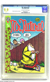 Mr. Natural #2 (Apex Novelties, 1971) CGC MT 9.9 Off-white to white pages. This first-printing copy of Mr. Natural #2 fe...