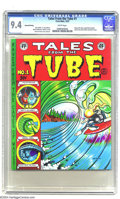 Bronze Age (1970-1979):Alternative/Underground, Tales from the Tube #1 (Print Mint, 1973) CGC NM 9.4 White pages. Cowabunga, dudes! Here's Rick Griffin's classic stoned sur...