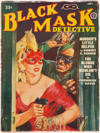 Black Mask - September 1950 (Fictioneers Inc.) Condition: VG/FN