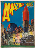 Pulps:Science Fiction, Amazing Stories - March 1927 (Ziff-Davis) Condition: VG-....