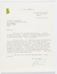 L. Ron Hubbard Signed Letter to Forrest J. Ackerman (March 7, 1972)