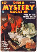 Pulps:Horror, Dime Mystery Magazine - November 1935 (Popular) Condition: VG....