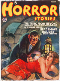 Horror Stories - August 1940 (Popular) Condition: FN-