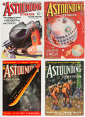 Pulps:Science Fiction, Astounding Stories Group of 4 (Street & Smith, 1934-38) Condition: Average FN.... (Total: 4 Items)