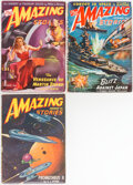 Pulps:Science Fiction, Amazing Stories Group of 3 (Ziff-Davis, 1942-48) Condition: Average VF.... (Total: 3 Items)