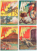 Pulps:Science Fiction, Amazing Stories Group (Ziff-Davis, 1926-27) Condition: Average FN-.... (Total: 4 Items)