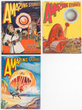 Pulps:Science Fiction, Amazing Stories Group (Ziff-Davis, 1928-29) Condition: Average FN/VF.... (Total: 3 Items)