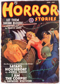 Pulps:Horror, Horror Stories - June/July 1938 (Popular) Condition: FN+....